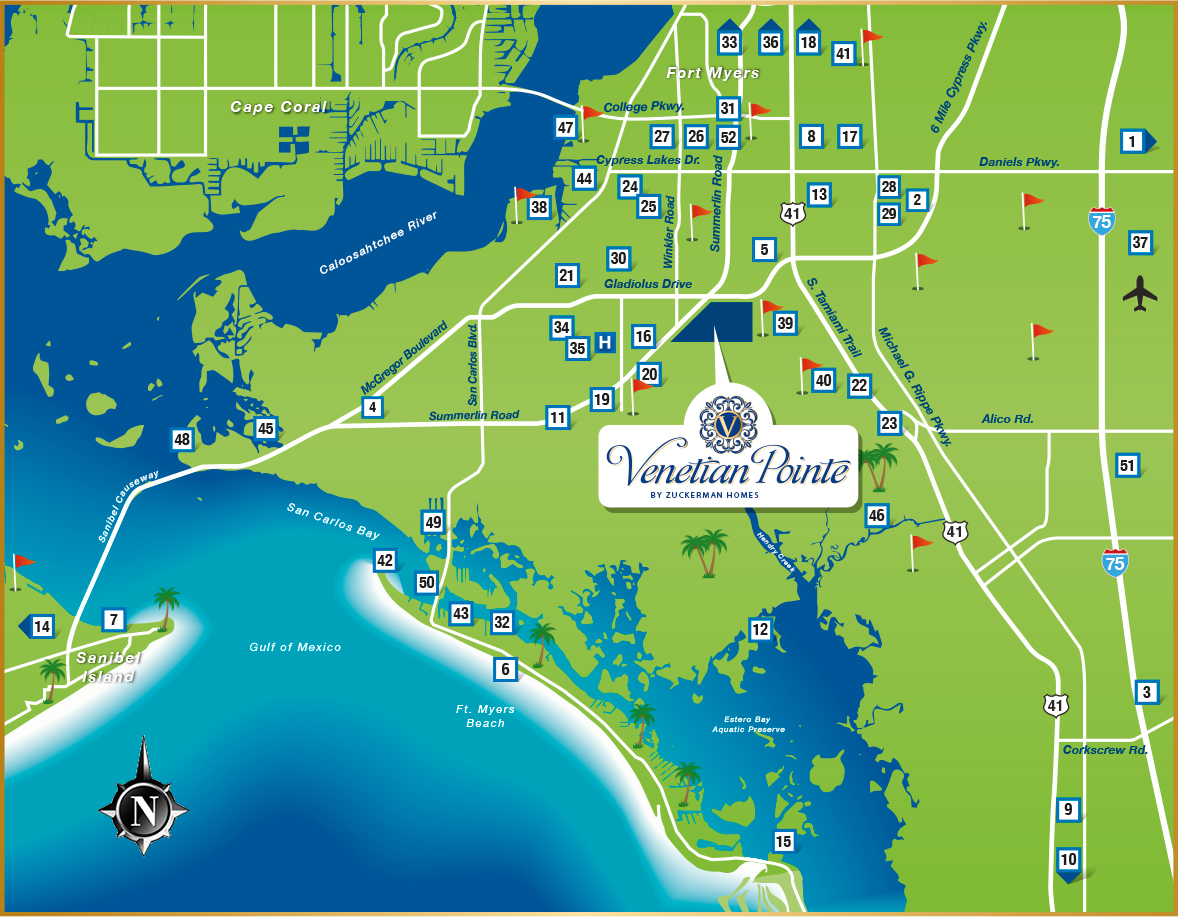 Coconut Point Florida Map.Map Venetian Pointe